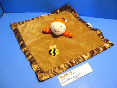 Circo Brown Security Blanket With Orange Giraffe and Yellow Bee