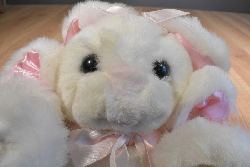 Dayton-Hudson Twistanbul Squiggles White and Pink Bunny 1989 Plush
