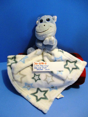 Little Beginnings Blue Hippo With Stars Security Blanket Plush