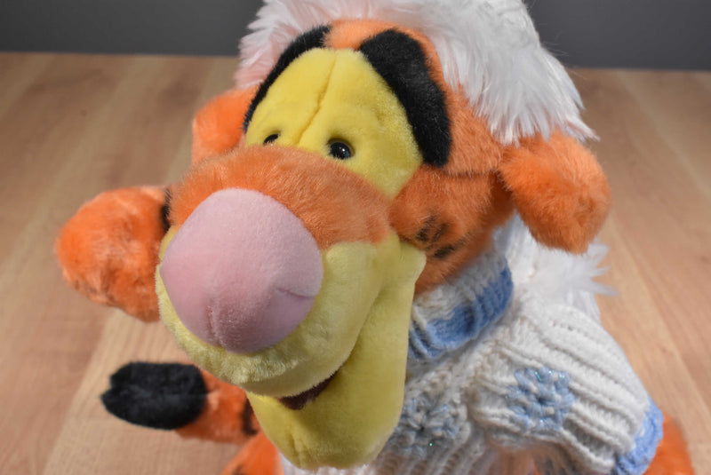 Disney Store Tigger Winter Snowflake Sweater and Hat Plush