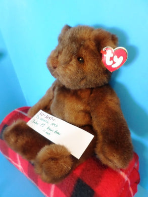 Ty Classic 1995 Baby PJ Brown Bear Plush(310-3047-1)