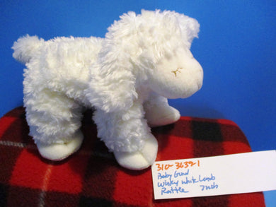 Baby Gund Winky White Lamb Rattle plush(310-3639-1)