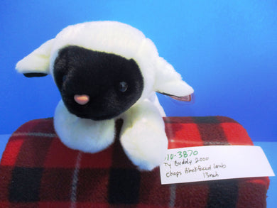 Ty Buddy 2000 Chops Black Faced White Lamb Plush (310-3870)