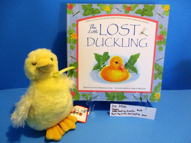 Douglas Yellow Duckling Quacker plush and Book