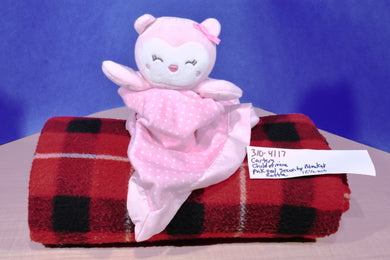 Carter's Child of Mine Pink Owl Security Blanket plush