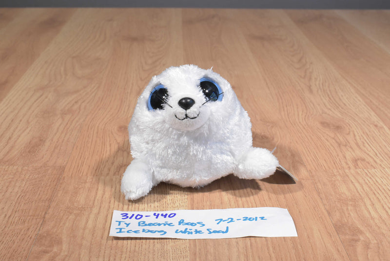 Ty Beanie Boos Iceberg the White Seal 2012 Beanbag Plush