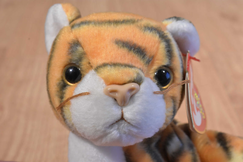 Ty Beanie Buddy 2001 and Baby 2000 India Bengal Tiger Beanbag Plushes