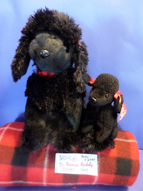 Ty Buddy and Baby Gi Gi the Black Poodle beanbag plush(310-698)