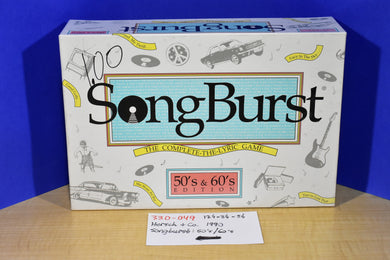 Hersch & Co. 1990 SongBurst 50's and 60's Edition Board Game
