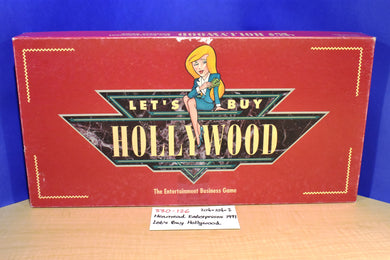 Henmead Enterprises 1991 Let's Buy Hollywood Board Game