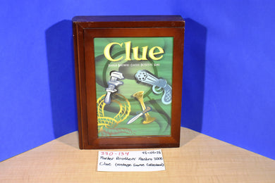 Parker Brothers Hasbro 2005 Clue Vintage Game Collection in Wooden Box