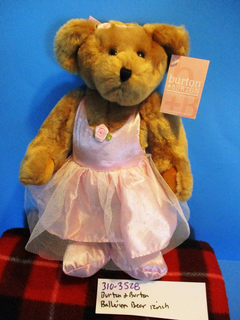 Burton and Burton Ballerina Brown Teddy Bear in Pink Tutu Plush