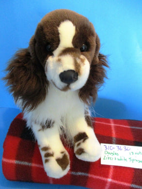Douglas Liver (Brown) and White Springer Spaniel Beanbag Plush