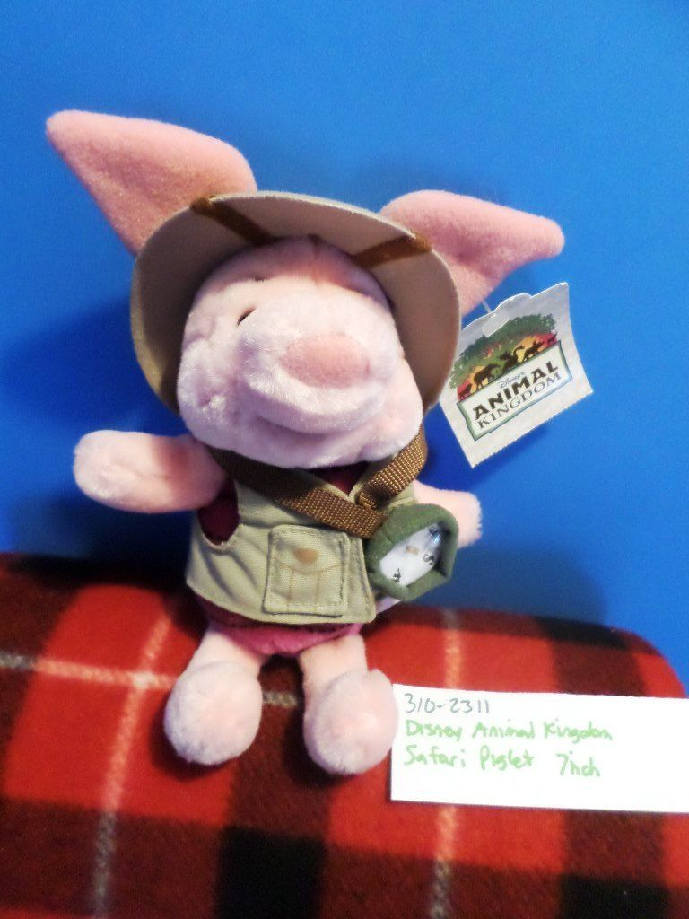 Disney World Animal Kingdom Safari Piglet Beanbag Plush