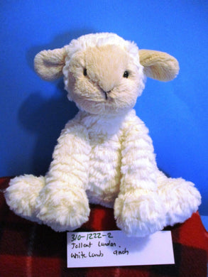 Jellycat London Fuddlewuddle White Lamb beanbag plush(310-1222-2)