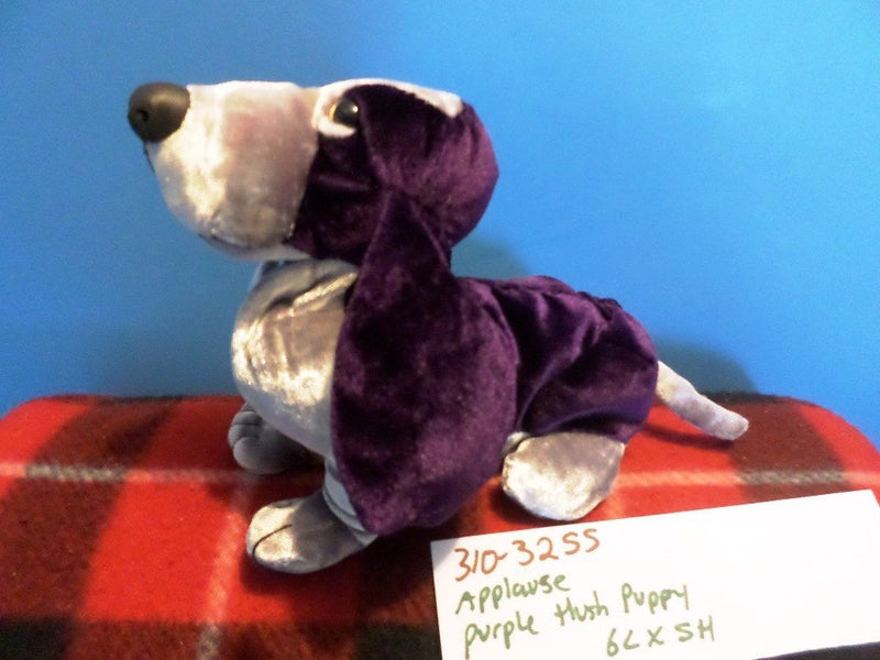 Applause Hush Puppy Deep Purple Special Velvet Basset Hound Beanbag Plush
