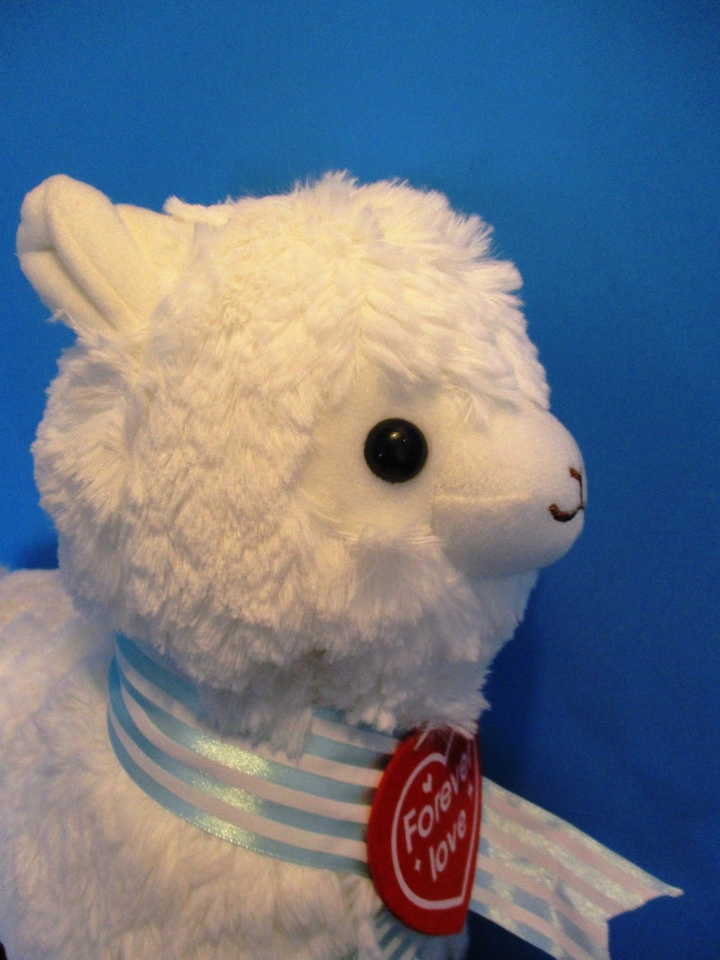 Yes Anime White Llama Alpaca With Red Heart Plush