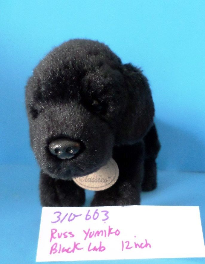 Russ Yomiko Black Lab Plush