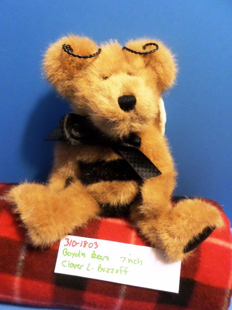 Boyd's Bears Clover L. Buzzoff the Bee Brown Teddy Bear 1998 Plush