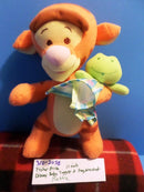 Fisher Price Disney Baby Tigger and His Frog Blanket Rattle 2005 Plush