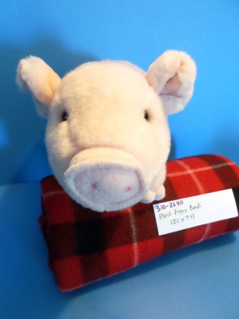 Pink Piggy Bank Plush