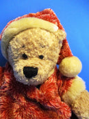 Ganz Heritage Brown Teddy Bear in Santa Suit 2001 Beanbag Plush