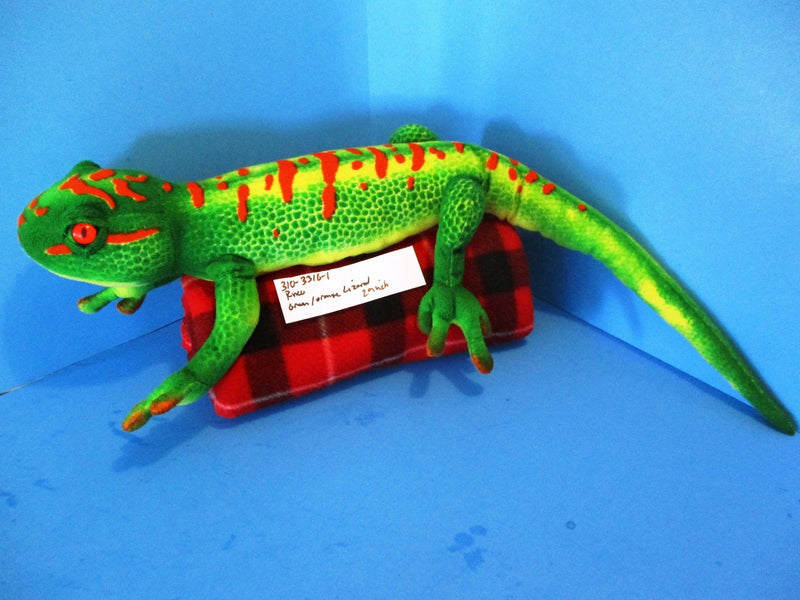 Wildlife Tree Floppy Zoo Green Day Gecko Lizard Plush
