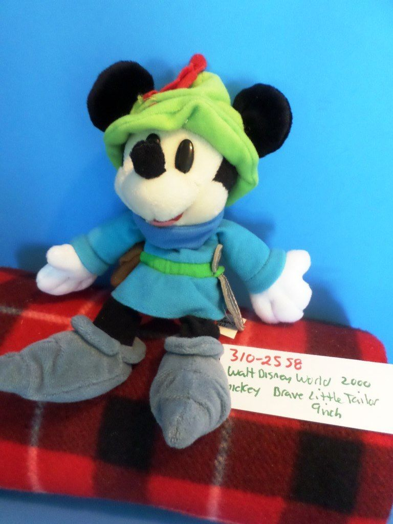Disney World Mickey Mouse The Brave Little Tailor 2000 Beanbag Plush