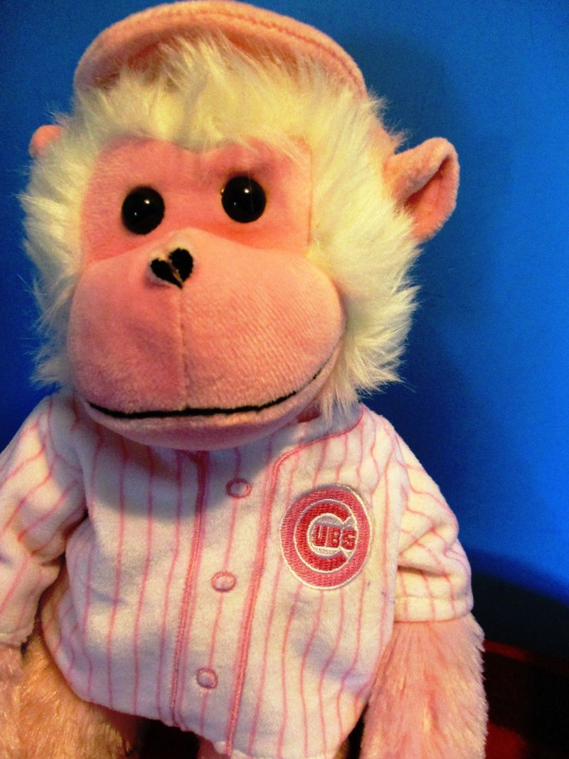MLB Genuine Merchandise Forever Chicago Cubs Pink Hugging Monkey Plush