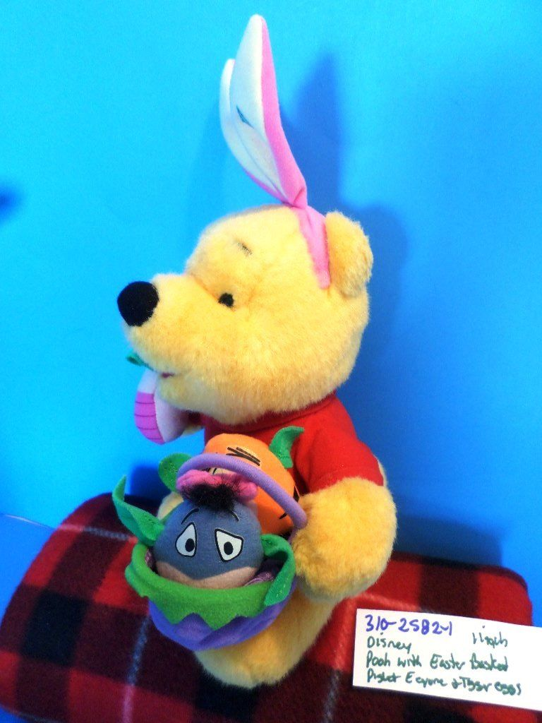 Mattel Disney Winnie the Pooh with Easter Basket 1999 Plush