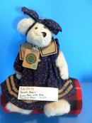 Boyd's Bears Mallory Witebruin White Bear in Blue Paw Print Dress 1999 Plush
