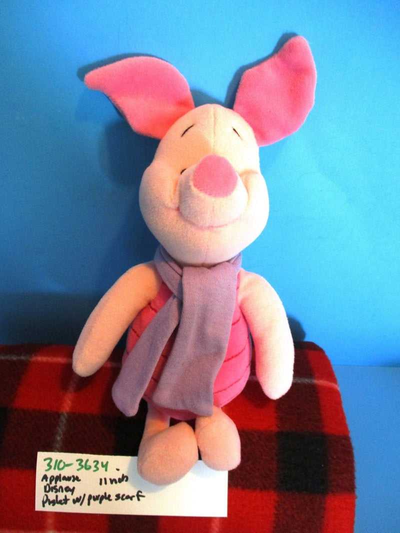 Applause Disney Piglet in a Purple Scarf Beanbag Plush