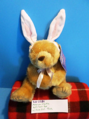 American Greetings Soft Touch Brown Bear in Bunny Ears Easter Plush
