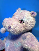 Build-A-Bear Purple Tye Dye Hippo Plush