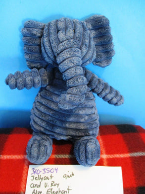 Jellycat London Cordy Roy Corduroy Blue Elephant beanbag plush(310-3504)