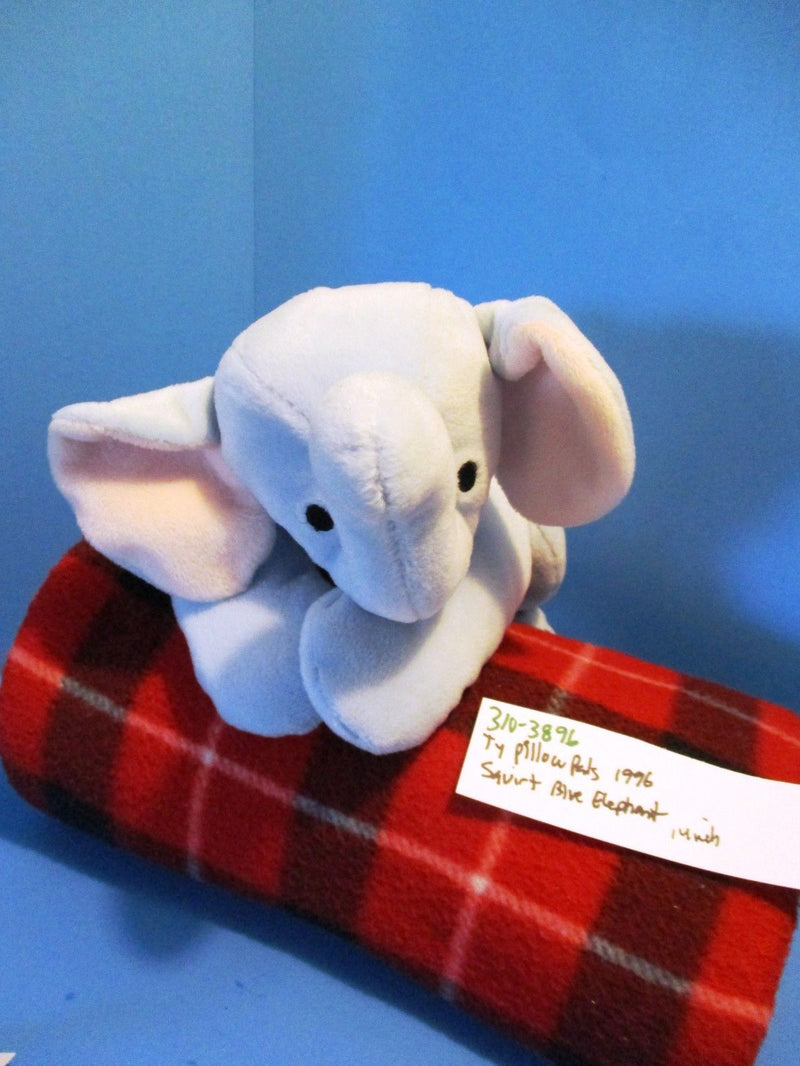 Ty Pillow Pals Squirt Blue Elephant 1996 Plush