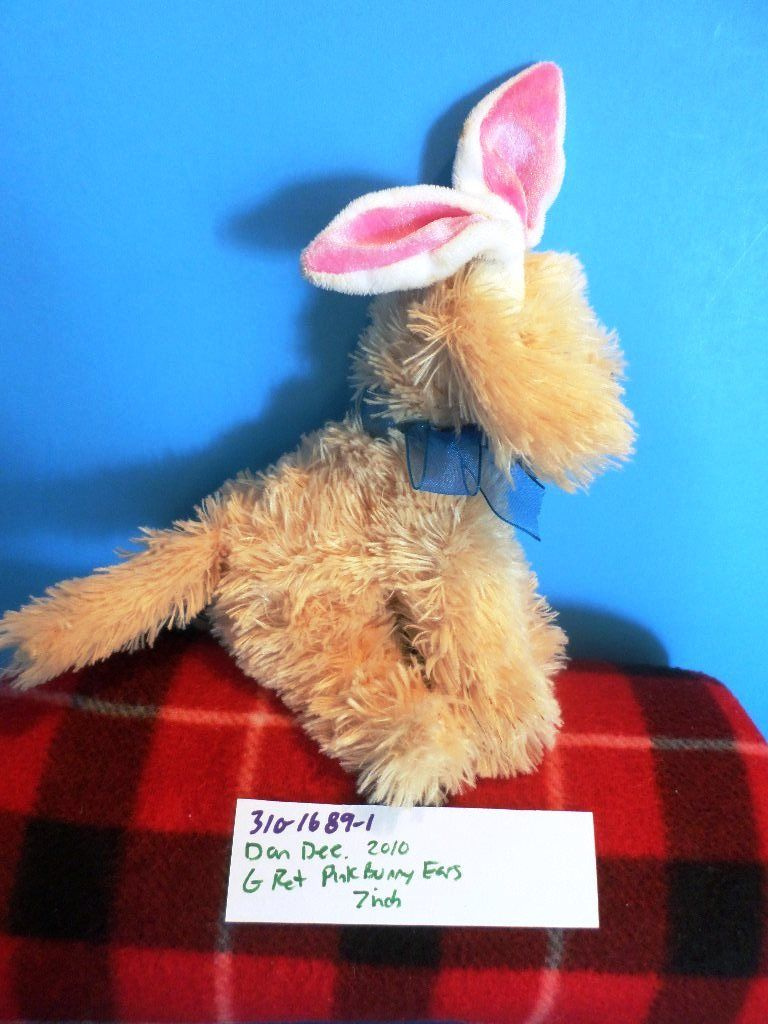 Dan Dee Golden Retriever Puppy With Bunny Rabbit Ears 2010 Plush