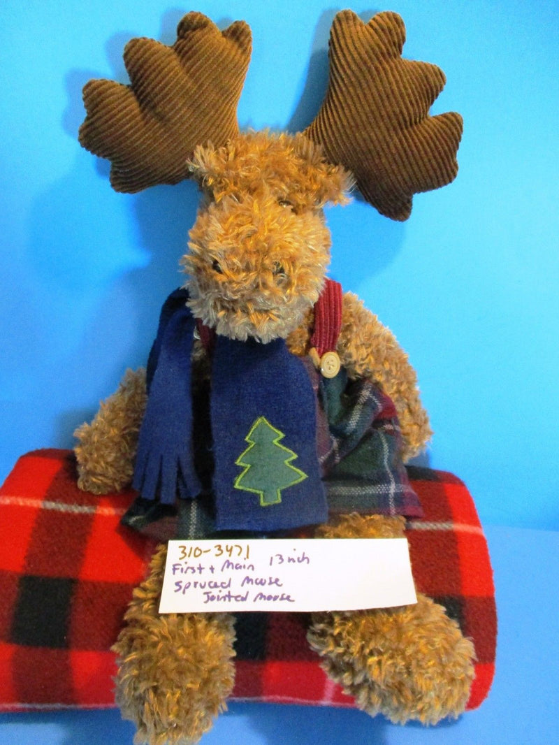 First & Main Spruced Moose Jointed Moose Beanbag Plush