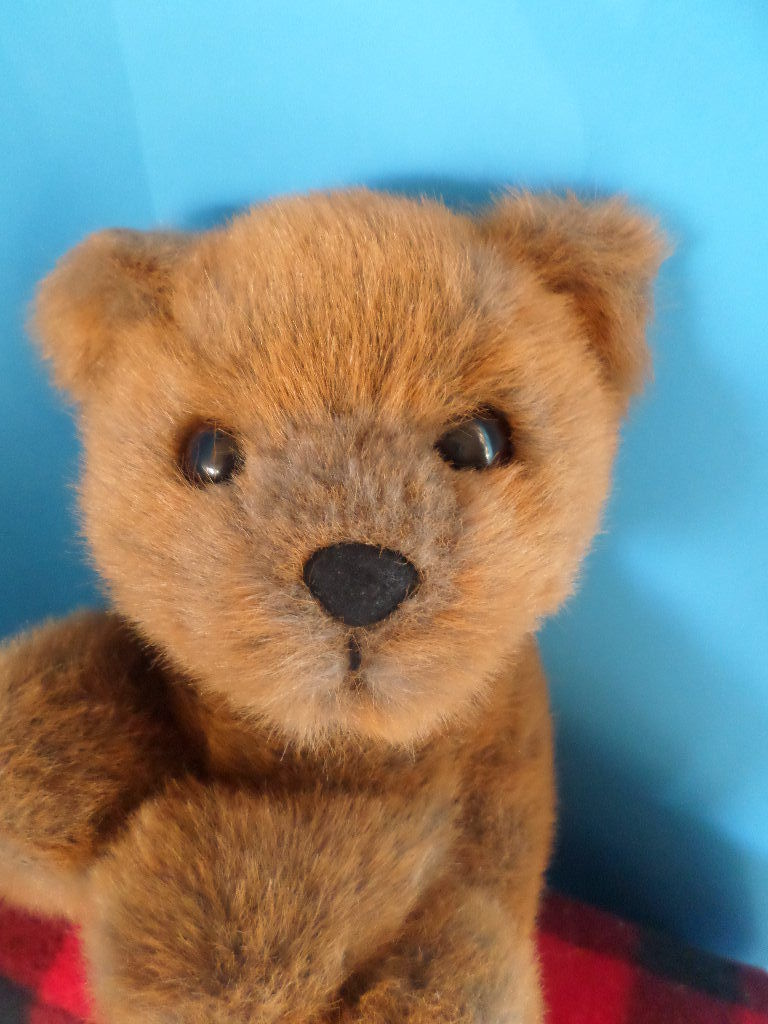 24K Polar Puff Special Effects Brown Bear Greyson 1993 Plush