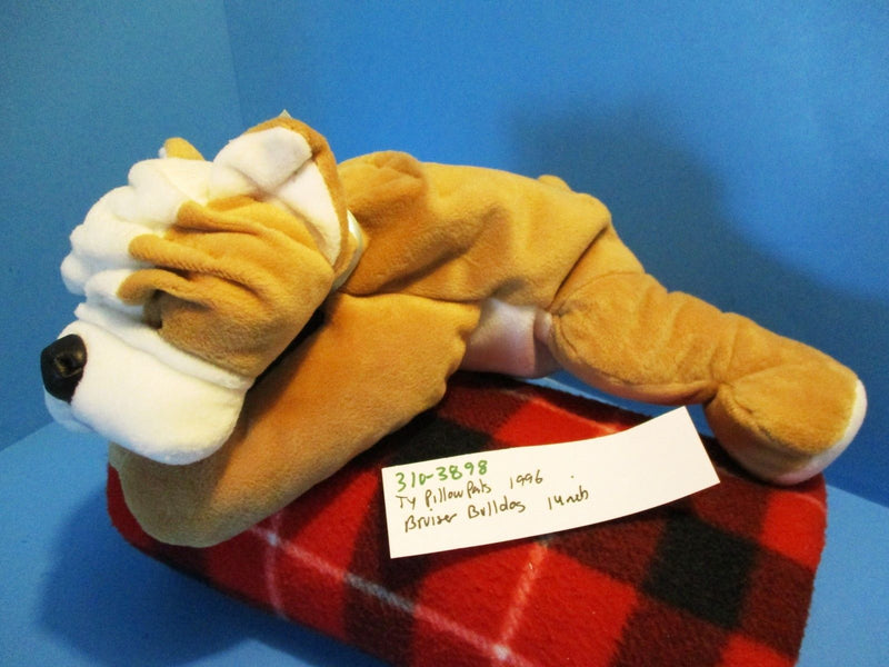 Ty Pillow Pals Bruiser Bulldog 1996 Plush