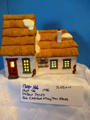 Department 56 Dickens' Series Bob Cratchit Tiny Tim 1986 Lighted House