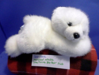 Morehead Collection Snow Furries White Polar Bear plush(310-1532)