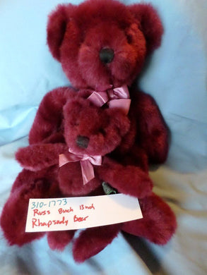 Russ Rhapsody the Burgundy Teddy Bear(set of 2)(310-1773)