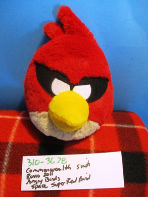 Commonwealth Rovio Angry Birds Space Super Red Bird 2011 Plush