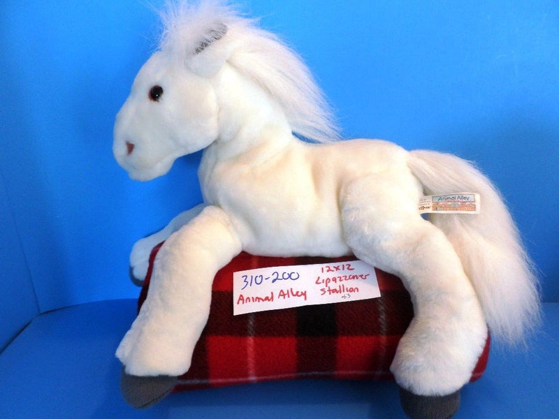Animal Alley Lipizzaner White Horse Stallion 2000 Beanbag Plush