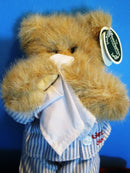 Bearington Collection Brown Teddy Bear Illie Willie the Sick Bear Plush