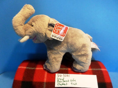 Gund Rainforest Cafe African Elephant bean plush (310-3261)