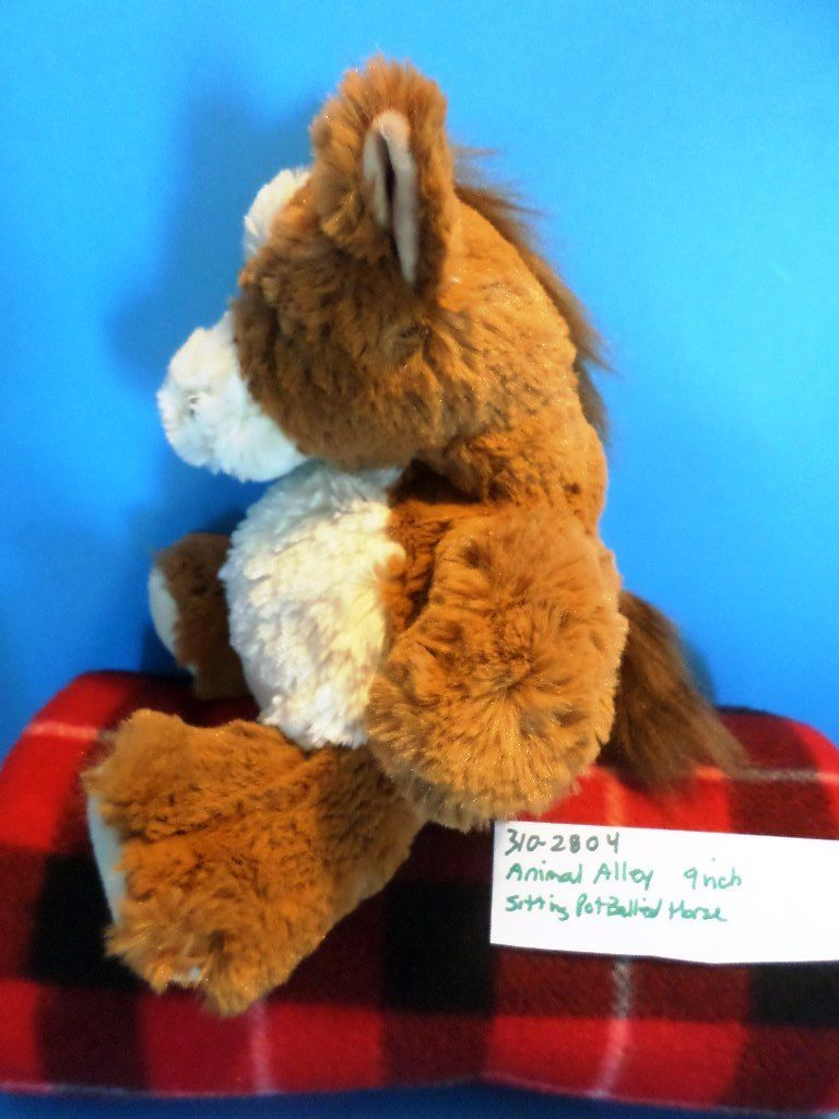 Animal Alley Sitting Pot Bellied Horse Pony Beanbag Plush