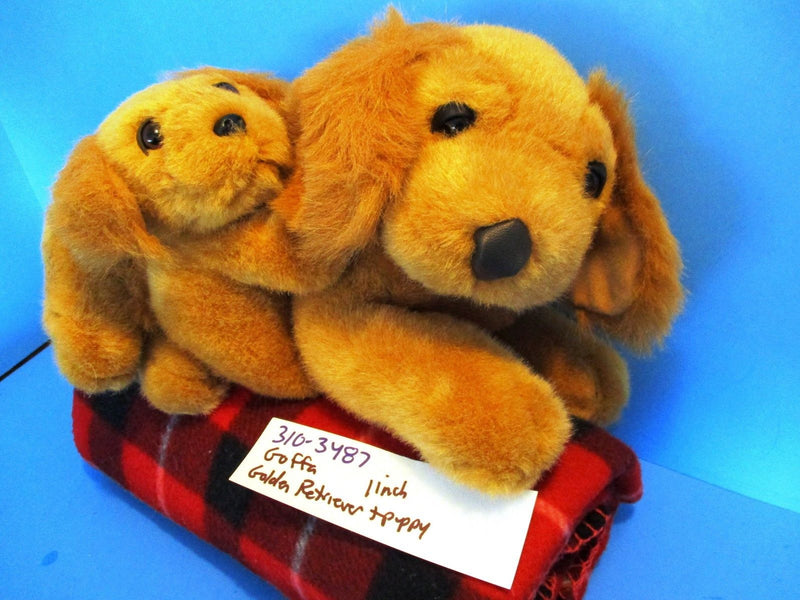 Goffa Golden Retriever and Puppy Plush