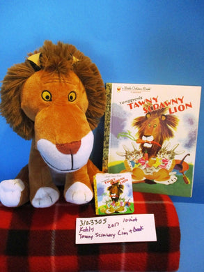 Kohl's Tawny Scrawny Lion 2017 plush and Little Golden Book(310-3305)